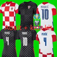 Евро 2020 Футбол MAN комплект + KIDS Комплект thai20 / 21 Hme 10 Модрич 7 Rakitic # 4 ERISIC футбол рубашка Вдали Манджукич ORSIC футбол форменные + детский костюм