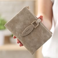 Fashion Women Short Purses Vintage PU Leather Lady Snap Fast...