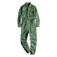 Jeans da uomo Tasche a maniche lunghe tasche cargo joggers Tute tute casual tuta Casual Coverlls Costume Pantaloni Black Army Green Khaki