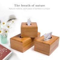 Caixas de tecido guardanapo de caixa de bambu caixa de armazenamento de madeira mesa de jantar mesa de mesa de madeira do guardanapo caso canister organizer casa decoração