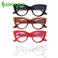 النظارات الشمسية SOOLALA 4 أزواج مختلط الألوان المضادة للأزرق ضوء القط العين القراءة نظارات المرأة cateye pressbyopic للبصر 1.0 2.0 إلى 4.0