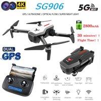 SG906 DUAL GPS DRONE 5G WIFI FPV FPV con selfie plegable 4K HD Cámara RC Motor sin escobillas Drone Foldable Quadcopter largo RC Distancia