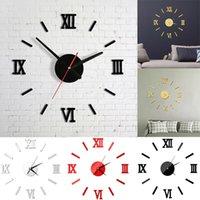 Akrilik Duvar Saati 3D Ayna Sticker Diy Kuvars İzle Duvar Çıkartmaları Natürmort Saatler Modern Ev Dekorasyon Salon Çıkartma