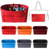 Fashion Felt Make Up Bag Multi- Pocket Large- Capacity Tote Wo...