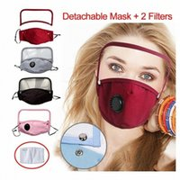 Máscaras Designer Máscara válvula destacável Eye Dustproof lavável completa protetor facial Capa protetora com 2 Filtros Dhe AEFJ #