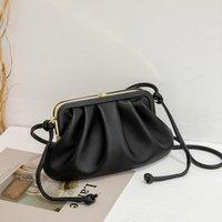 Fashion Famous Name Fashion Handbag Retro Fold Female Dumplings Cloud Bag Occupation Inclined Shoulder Bag