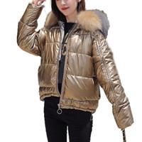 Invierno Mujeres sólido de color de algodón acolchado de la capa del collar corto por la chaqueta