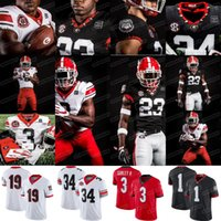 1 George Pickens 2020 조지아 불독 40th 1980 Herschel Walker Gurley II Bennett JT Daniels James Cook NCAA College Football Jersey