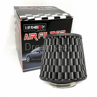 """Dreamseek 3"""" High Flow Auto-Kofferraum Cold Air Intake Filter-Reinigungsmittel-Carbon-Faser Aussehen 7ezL #"""