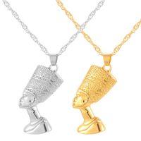 Gioielli Queen Collane della regina egiziana della regina per le donne Gioielli degli uomini Collana africana Goccia Africa Anniyo Gold Nefertiti Commercio all'ingrosso