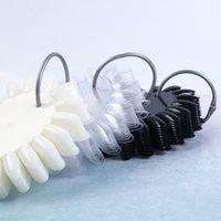 160 İpuçları / Set Oval Yanlış Çiviler İpuçları Temizle Doğa Siyah Nail Art Lehçe Ekran Uygulama Renk Kart Manikür Aracı # 1513