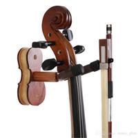 바이올린의 나무 홈 스튜디오 벽 마운트 걸이 - - 활 걸이와 나무 바이올린 걸이 로즈 우드