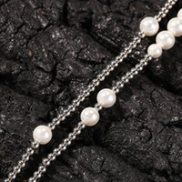 Fashion Mens Street Pearl Stainless Steel Ball Beaded Hip Ho...