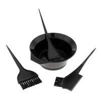 مجموعة من 4 قطع تلوين الشعر صباغة كيت صبغ فرشاة مشط السلطانية تينت بليتش مجموعة أدوات الأسود