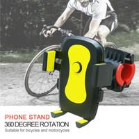 الهاتف المحمول جبل دراجة دراجة نارية هاتف يقف العالمي دوران 360 دراجة حامل الهاتف الخلوي دعم موتو