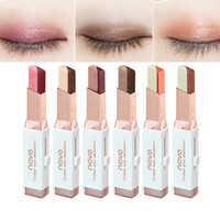NOVO Eyeshadow Stick Double Color Gradient Velvet Cream Eyeshadow Shimmer Naked Coloris Cosmetic Makeup Sombra Eyeshadow
