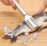 Creative Kitchen tools manual fish scaler fishing scalers fish cleaning knife cleaner tweezers for fish cleaning