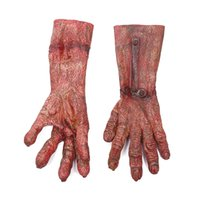 Guantes de Halloween Decoraciones de Disfraces de miedo traje de Halloween parte Adultos Látex Monster Manos