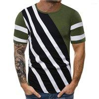 Tee-Shirt Homme Casual Designer Casual pur Color Line Pallened Hommes Chemises Designer ras du cou à manches courtes Tops Vintage