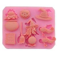 Gâteau d'Halloween en silicone Biscuit Moule Sorcière citrouille chocolat bonbons moule haute température bricolage Décoration de cuisson Cuisine Outils SN1493
