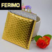 Hediye Paketi 50 adet Altın Alümizized Folyo Metalik Kabarcık Mailer Yüksek Kaliteli CD / DVD Zarf Direnç Posta