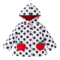 Dollplus Frühling und Herbst starke Mädchen Jacken Kinder Oberbekleidung Tupfen Hoodied Mäntel Kinder Kleidung Teenager Trenchcoat 2-6T