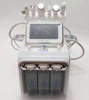 6 في 1 Hydro dermabrasion الوجه العميق نظافة هيدرا جلدي آلة الأكسجين بخاخ بندقية بالموجات فوق الصوتية rf الباردة مطرقة الجلد الغسيل