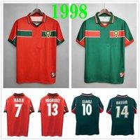 1998 كأس العالم الرجعية المغرب لكرة القدم الفانيلة 98 99 المغرب المنزل بعيدا هادجي باسر عواكيلي نكريز أبرامي مخصص خمر كاسيك لكرة القدم قميص