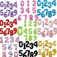 40 pouces Un grand nombre ballon 1 2 3 4 5 Nombre de chiffres hélium feuille bébé douche Ballons de fête d'anniversaire de mariage Fournitures de décoration intérieure DHF1955