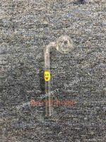 JH 뜨거운 저렴한 맑은 멋진 튜브 유리 파이프 흡연 핸들 파이프 곡선 흡연 파이프 파이렉스 유리 오일 버너 파이프 무료 배송