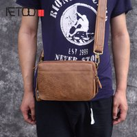AETOO New Messenger Bag Japanese Retro Leather Pouch Leather Casual Mens Bag Mens Bag Shoulder
