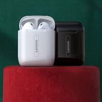 Lenovo X9 TWS Bluetooth 5.0 Наушники зарядки зарядки коробки беспроводные наушники 9D стерео спортивные водонепроницаемые наушники гарнитуры микрофон
