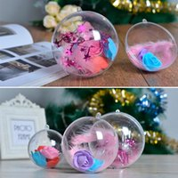 10PCS 7cm Plastic Balls Xmas Decorations Window Christmas Decoration Transparent Acrylic Clear Gift Present For Home Can Open