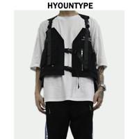 Мода хип-хоп рукава Жилеты Мужчина Грузовой Жилет с Карманой китель Новых Streetwear Tactical Vest Кофтами 200922