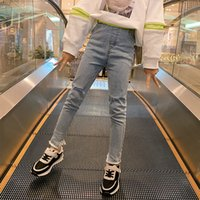 Baby Girls Mid Waist Skinny Jeans 4-16 year 2020 Spring New Arrival Girls Jeans Kids Fashion Brief Patchwork Jeans for Girls