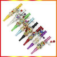 Colorful Hookah Mouthpiece Tip Detachable Pendant Arab Handmade Shisha Head Skull Shaped Filter Inlaid Jewelry Bracelet Smoking Pipe Drip