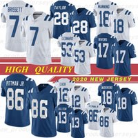 Jacoby Brissett 2020 Andrew Luck fooball t.y. Hilton Jersey Michael Pittman Jr. Jonathan Taylor Darius Leonard Peyton Manning Philip Rivers