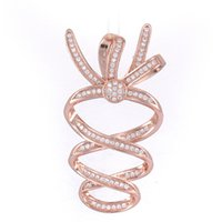 New Fashion Jewelry Vintage Zircon Crystal CZ Charms Pendant For Jewelry Making Wholesale Copper Micro Pave Big Charms Diy Gifts