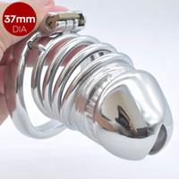 Bigger Maschio Chastity Cage in acciaio inox lungo Chastity BDSM dispositivo eretto negazione cock-lock Pene Toys