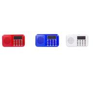 L-218 Mini USB Speaker Portable Retro Style FM Radio USB Sd Card Reader Speaker