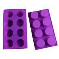 El Yapımı Sabun Silikon Kalıp Sekiz Çemberleri buz kalıpları Muffin Kupa Kek Pişirme Kalıp Moldes De Silicona DIY Aracı 5jm F2