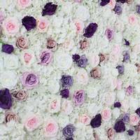 matrimonio SPR Rosa della seta pannelli a muro fiore Hydrangea a fiore occasione fondale arco decorazioni a disposizione floreale