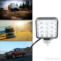 자동차 LED 운전 일빛 4 개 인치 주도 바 48W 6000K 홍수 스팟 콤보 등 오프로드 램프 자동차 SUV 트럭 조명 자동차