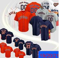 Hombres Astros Jersey 2 Alex Bregman 27 Jose Altuve 5 Jeff Bagwell 7 Craig 4 George Springer Jerseys de béisbol personalizados