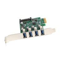 Super velocità Staffa a basso profilo 4Port USB3.0 PCI-E Express Card per desktop
