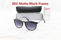 5pcs Moda óculos de sol de alta qualidade para lentes Homens Mulheres Eyewear óculos de sol Preto Matte Gradiente UV400 Box e Casos