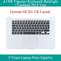 """Pro 15 inç Topcase Vaka A1398 Klavye Arka Işık Arkadan aydınlatmalı Trackpad Touchpad için hakiki 15.4"""" A1398 Almanca Klavye 2020"""