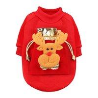 الحيوانات الأليفة عيد الميلاد الأحمر سترة لطيف دافئ عيد الميلاد موضوع حزب الديكور الحيوانات الأليفة هدية السنة الجديدة الملابس