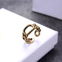 Vintage Style Women Hollow Rings Fashion Simple Letter Band ...