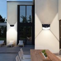 208 LED 태양 전원 조명 PIR 모션 센서 보안 옥외 방수 정원 안뜰 램프 조명 야외 LED 가제트 벽 램프